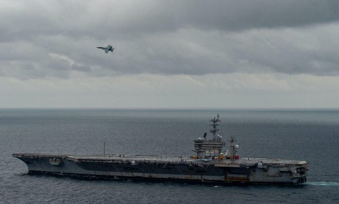 Carrier USS Dwight D. Eisenhower Underway Ahead of Double-Pump Deployment