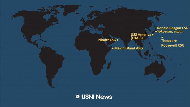 USNI News Fleet and Marine Tracker: Jan. 11, 2021