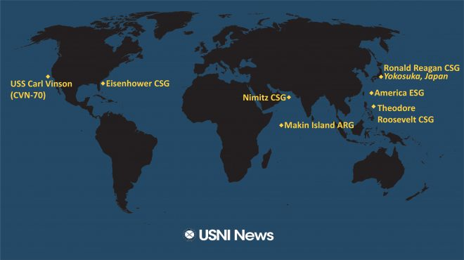 USNI News Fleet and Marine Tracker: Jan. 21, 2021