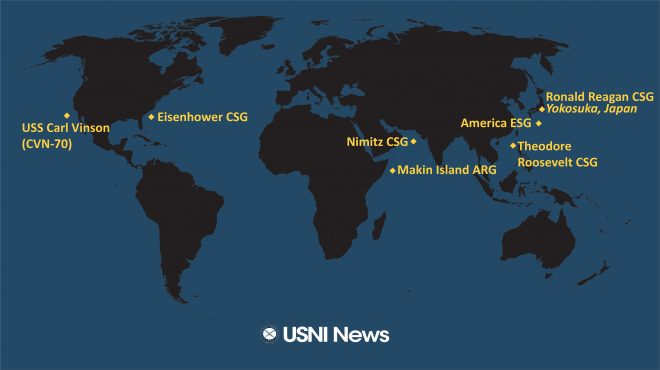 USNI News Fleet and Marine Tracker: Jan. 25, 2021