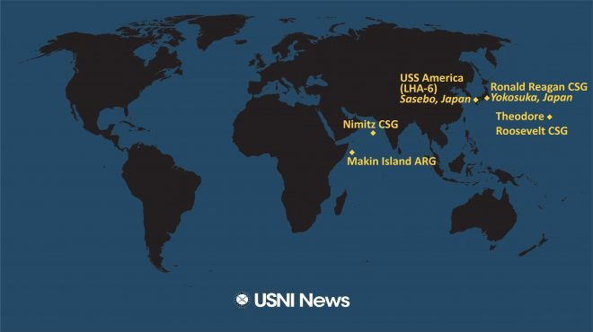 USNI News Fleet and Marine Tracker: Jan. 4, 2021