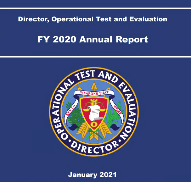 Pentagon's Director, Operational Test & Evaluation 2020 Annual Report