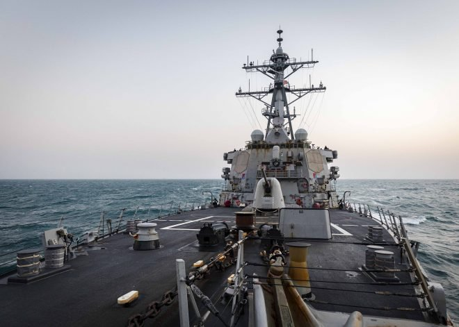 Destroyer USS John McCain Conducts FONOP; Nimitz Carrier Strike Group in the South China Sea