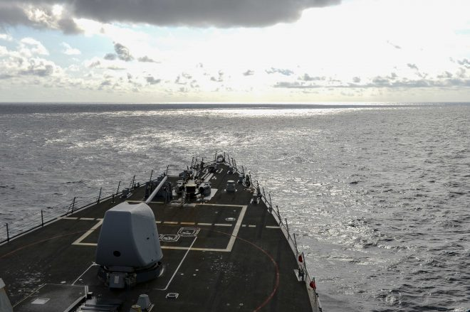 Destroyer USS Russell Performs South China Sea FONOP