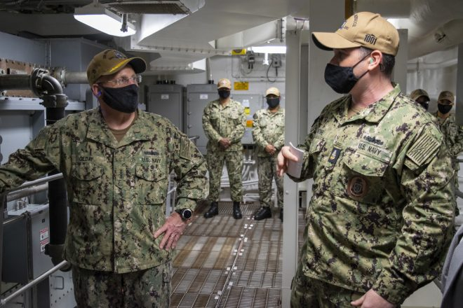 CNO Visits Aircraft Carrier Nimitz as CSG Nears End of Nearly 11 Months Away From Home