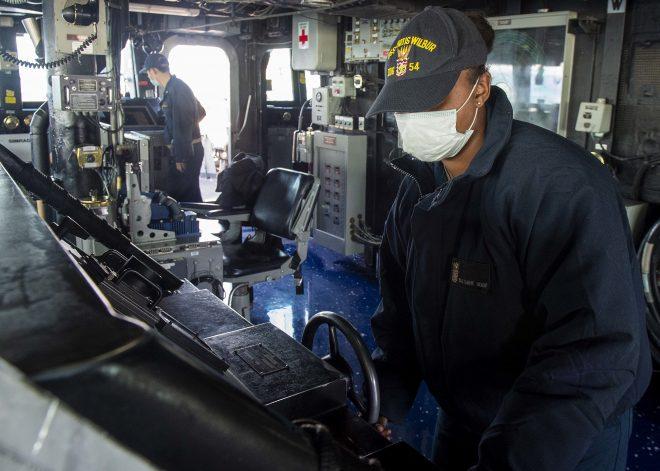 Destroyer USS Curtis Wilbur Transits Taiwan Strait