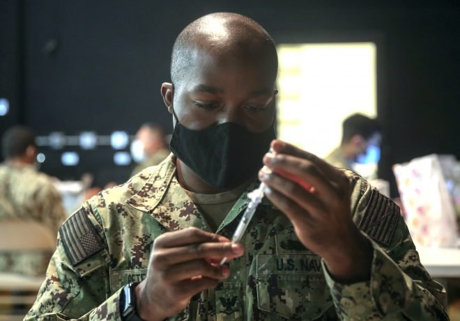 Pentagon: One Third of Service Members Offered COVID-19 Vaccines Have Refused