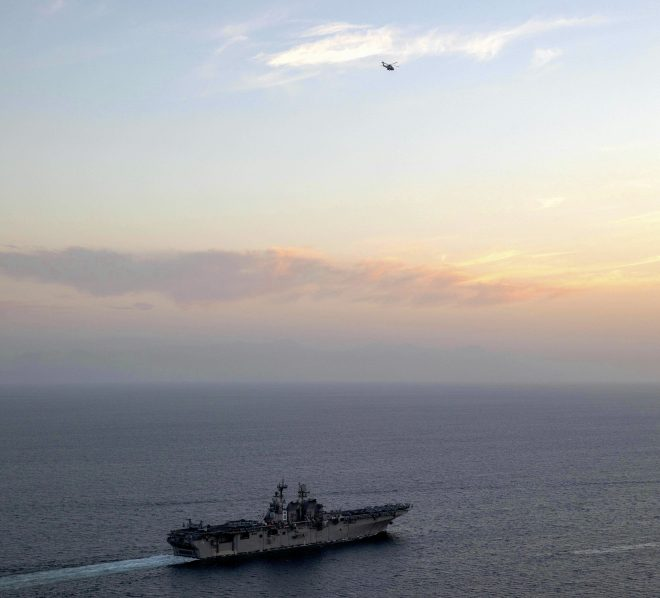 USS Makin Island, Marine F-35s Now in Persian Gulf