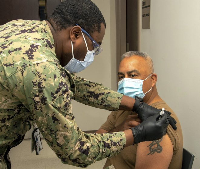 Navy Has Given Nearly a Quarter of Active-Duty Sailors COVID-19 Vaccines