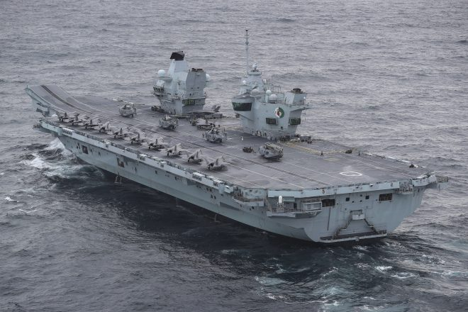 Carrier HMS Queen Elizabeth Will Drill with Japanese in Pacific During Deployment