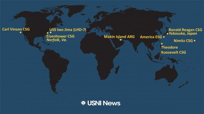 USNI News Fleet and Marine Tracker: Feb. 18, 2021
