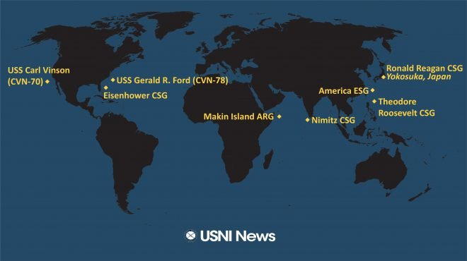USNI News Fleet and Marine Tracker: Feb. 1, 2021