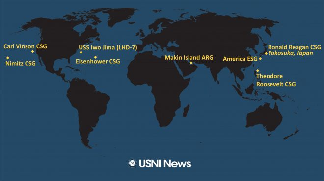 USNI News Fleet and Marine Tracker: Feb. 22, 2021