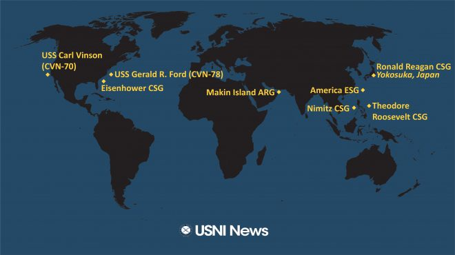 USNI News Fleet and Marine Tracker: Feb. 8, 2021