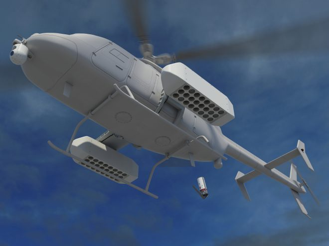 Northrop Grumman Pitching Fire Scout Helicopter Drone for ASW Missions