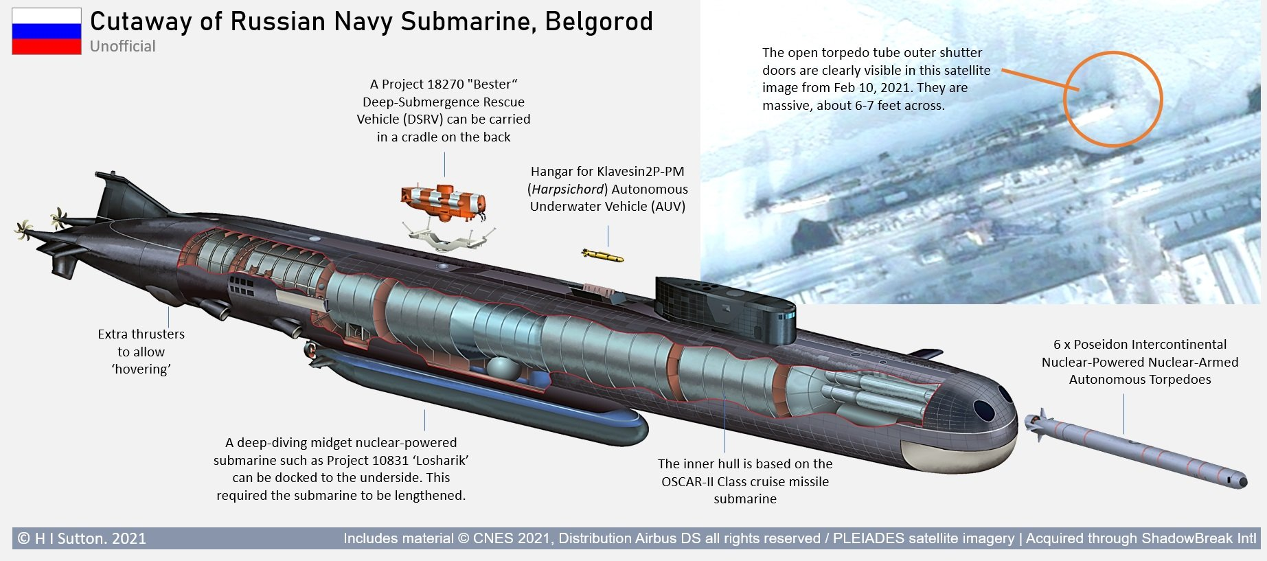 Poseidon carrier Submarines - Page 7 Russia-Belgorod-Submarine