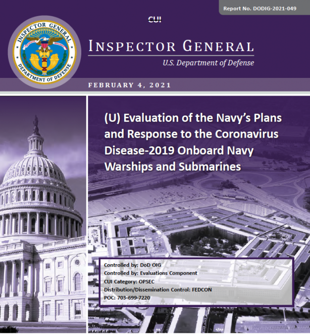 Defense Department Investigation into Navy COVID-19 Response