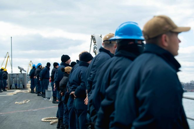 Navy Destroyer and Cruiser Leave Black Sea After Exercising with NATO Allies