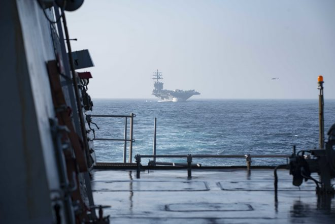 USS Dwight D. Eisenhower Launching Anti-ISIS Missions from Mediterranean, French Carrier Takes Helm of CTF 50