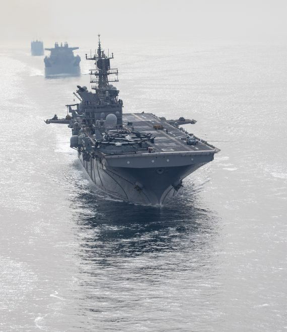 USS Makin Island, Sea Base USS Lewis B. Puller Leave Persian Gulf