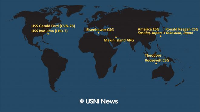 USNI News Fleet and Marine Tracker: March 15, 2021