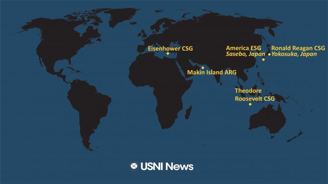 USNI News Fleet and Marine Tracker: March 22, 2021