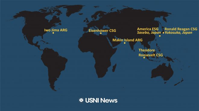 USNI News Fleet and Marine Tracker: March 29, 2021