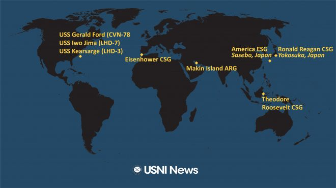 USNI News Fleet and Marine Tracker: March 8, 2021