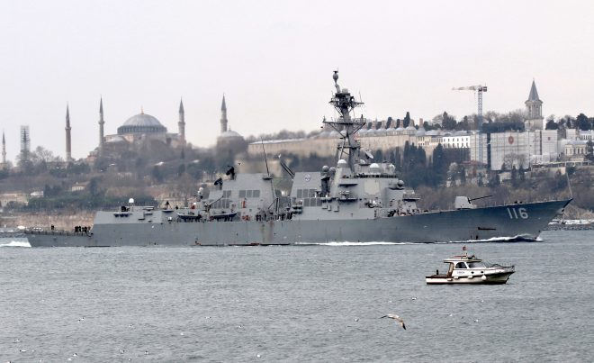 UPDATED: USS Monterey, USS Thomas Hudner Enter Black Sea for 'Multi-Domain' Operations