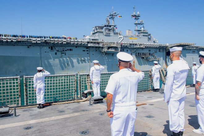 Essex Amphibious Ready Group Now in Middle East, Iwo Jima ARG Heading Home