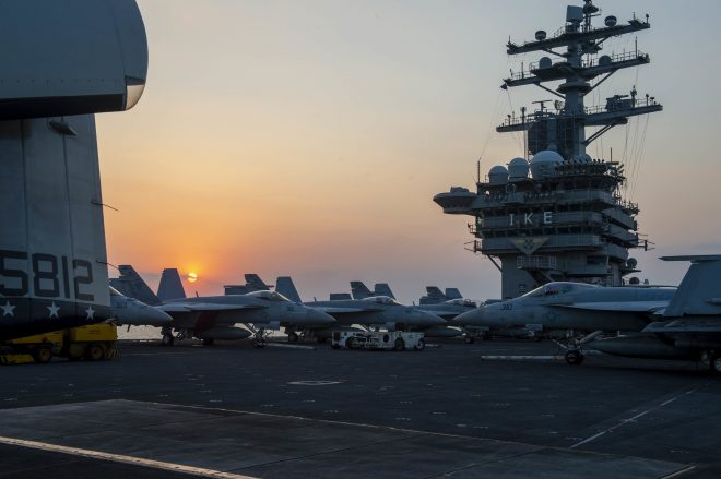 VIDEO: Eisenhower Strike Group Now in Middle East After Suez Canal Transit