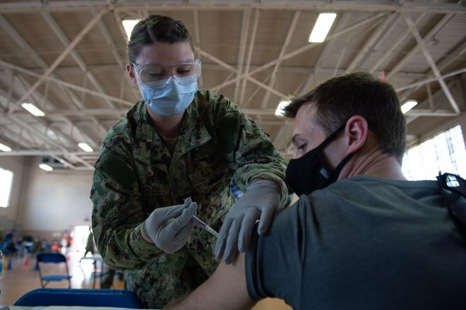 Navy Has Given 35% of Active-Duty Sailors COVID-19 Vaccines