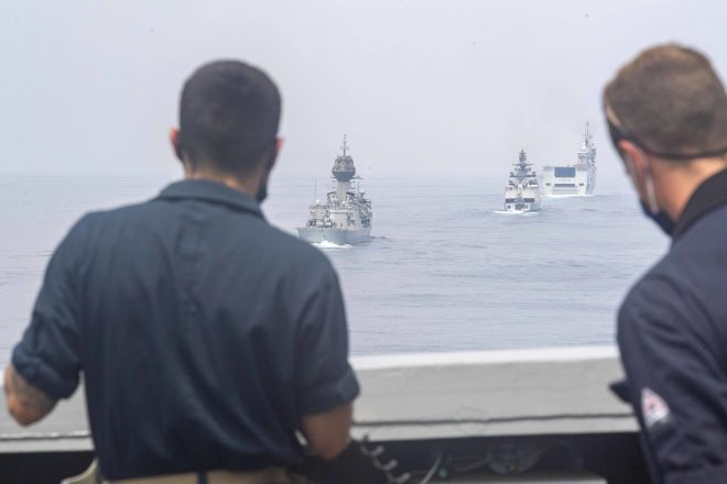 French Navy Exercise Combines Ships from 5 Navies on Short Notice