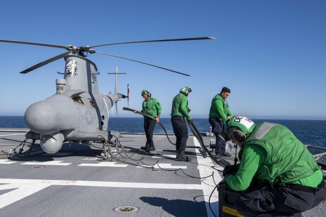 MQ-8B Fire Scout Crashes Into Littoral Combat Ship USS Charleston On Deployment