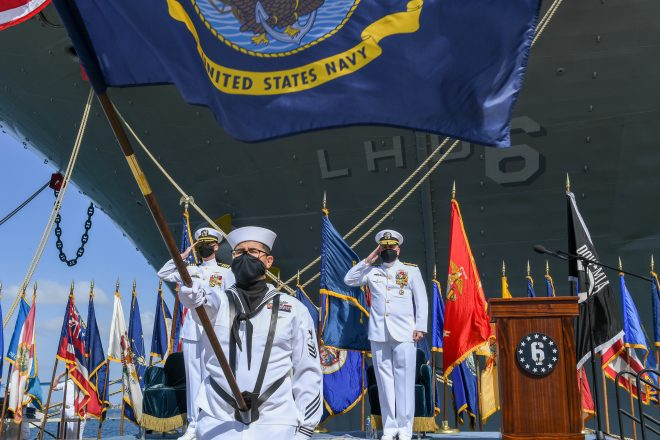 VIDEO: Navy Decommissions USS Bonhomme Richard In San Diego Waterfront Ceremony