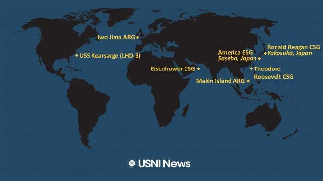 USNI News Fleet and Marine Tracker: April 12, 2021