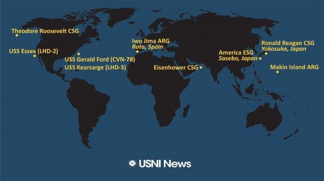 USNI News Fleet and Marine Tracker: April 26, 2021