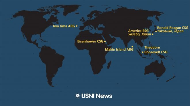 USNI News Fleet and Marine Tracker: April 5, 2021