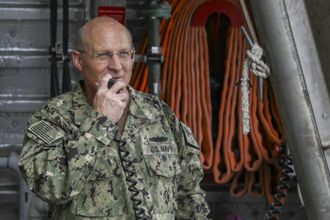 CNO Gilday: Pentagon Weighing Reducing Middle East Aircraft Carrier Presence After Afghan Withdrawal