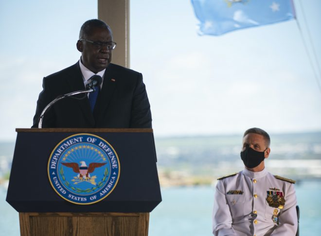 VIDEO: SECDEF Austin, New INDOPACOM Head Affirm U.S. Commitment to Pacific During Change of Command