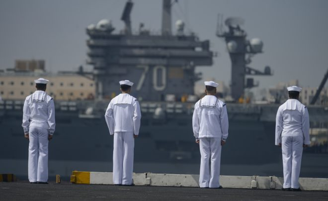 Arriving Home,  USS Theodore Roosevelt Wraps Up 2nd Deployment in 16 Months