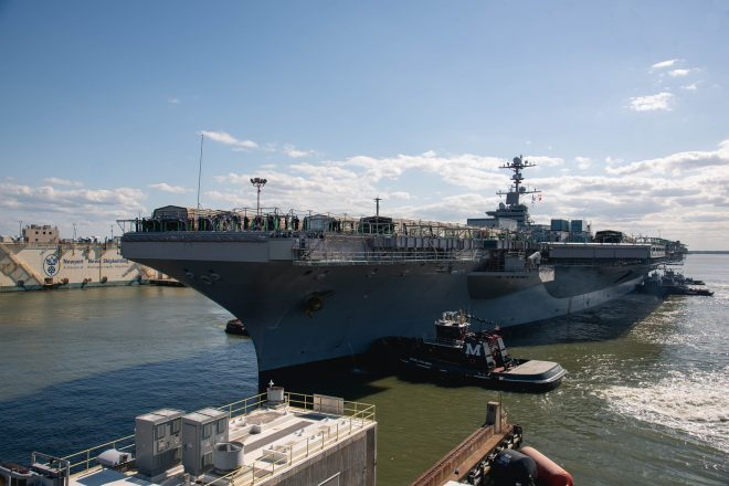 VIDEO: Carrier USS John C. Stennis Arrives at Newport News for Mid-Life Overhaul, Refueling