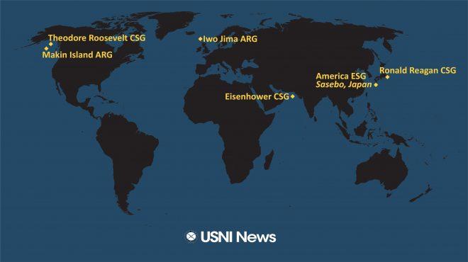 USNI News Fleet and Marine Tracker: May 10, 2021