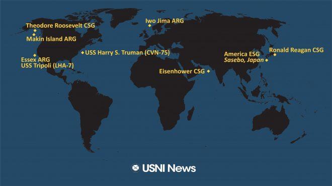 USNI News Fleet and Marine Tracker: May 17, 2021