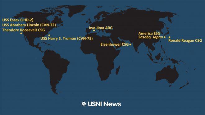 USNI News Fleet and Marine Tracker: May 24, 2021