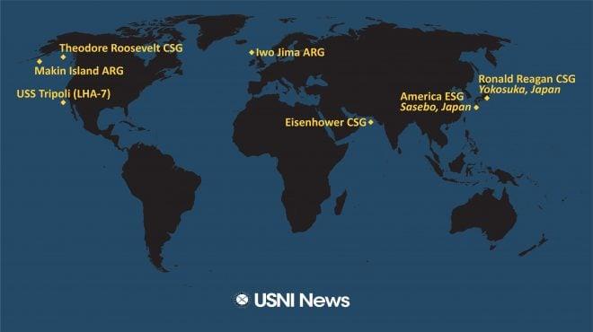 USNI News Fleet and Marine Tracker: May 3, 2021