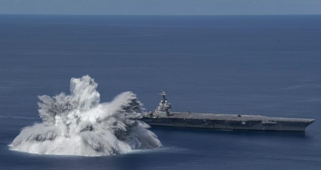 VIDEO: Explosive USS Gerald R. Ford Shock Trial Registered as 3.9 Magnitude Earthquake