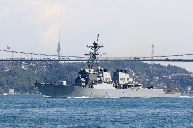 Destroyer USS Laboon Enters the Black Sea