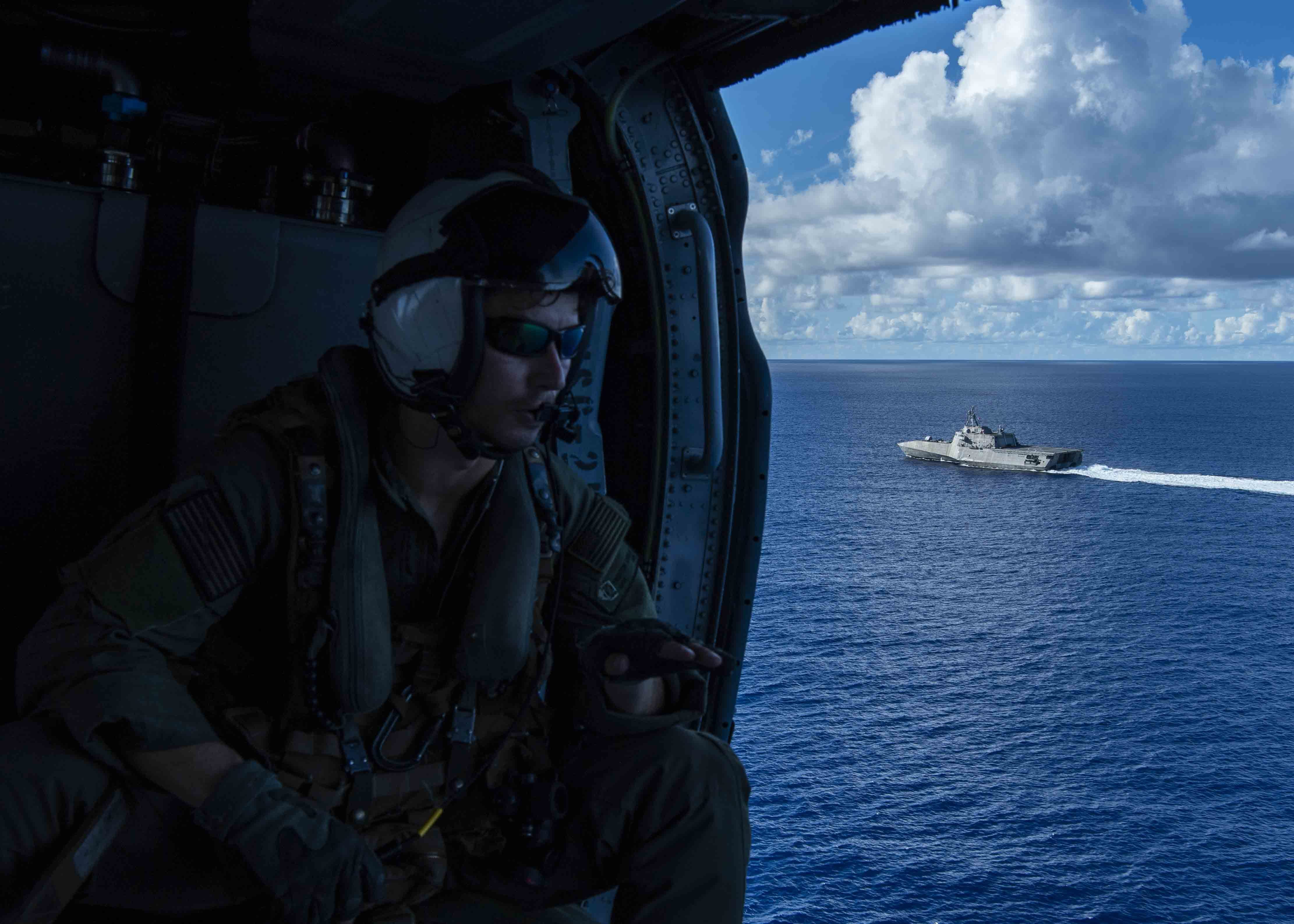 Two LCSs, Reagan Carrier Strike Group and America ESG on Patrol in the Western Pacific