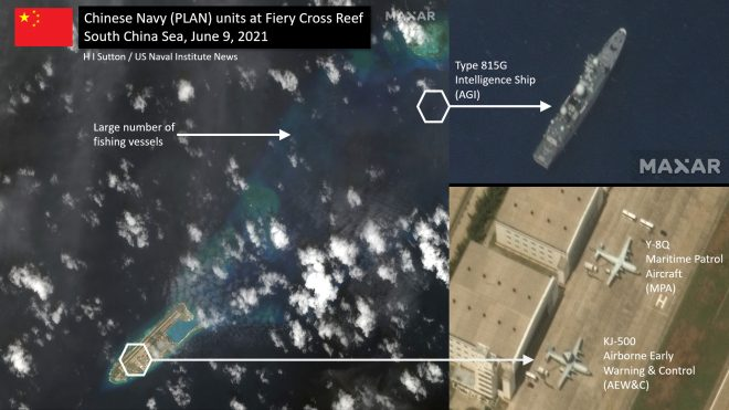 Chinese Military Surveillance Ship, Aircraft Spotted at Contested South China Sea Reef